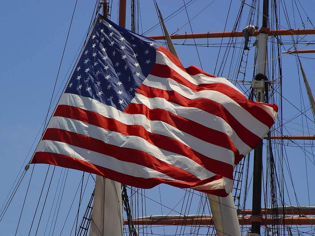 Flag on a Ship