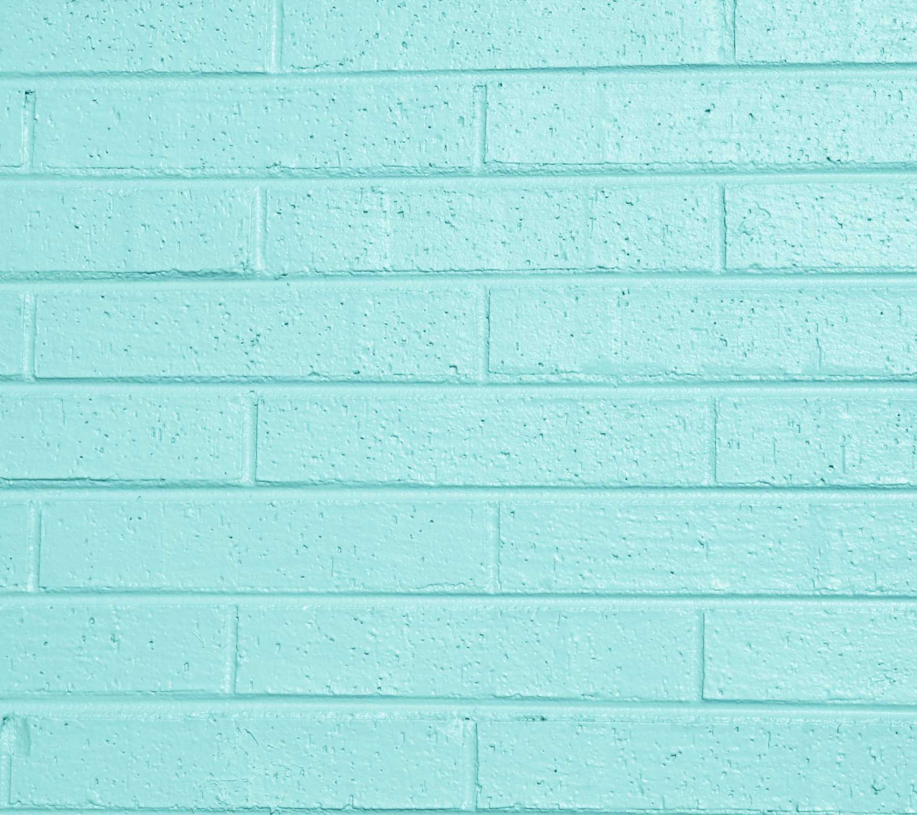 Aqua Colored Painted Brick Wall Background Image