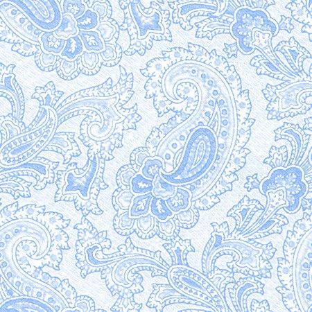 Baby Blue Paisley Background Seamless Pattern Background