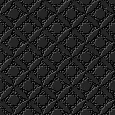 Beveled Ornate Diamond Pattern Seamless Wallpaper ...  Black
