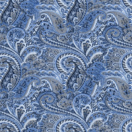 Blue Paisley Pattern Background Seamless Background Image ...