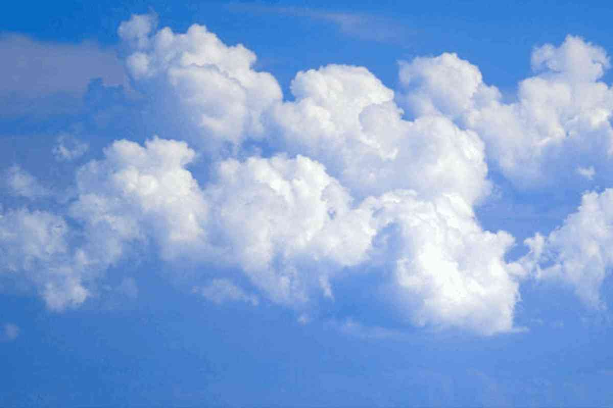 Blue Sky With Clouds Background Image Wallpaper Or Texture Free For
