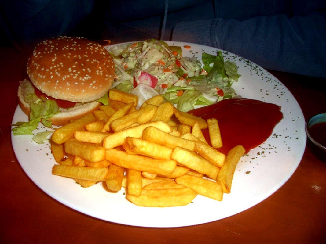 hamburger and fries wallpaper - photo #5