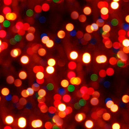 Colorful Holiday Lights Seamless Texture Background Image
