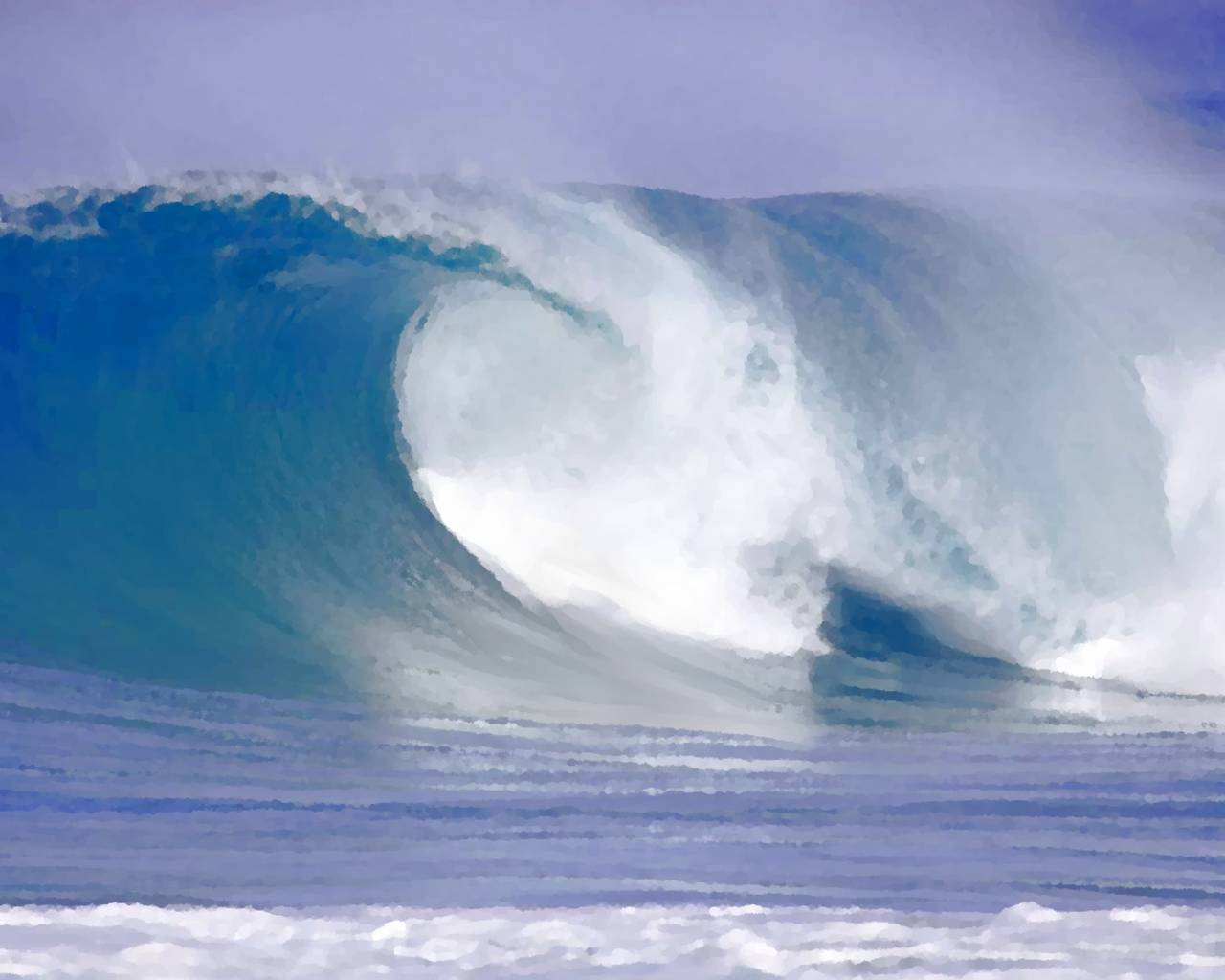 Background Wallpaper Image: Cresting Wave Painting