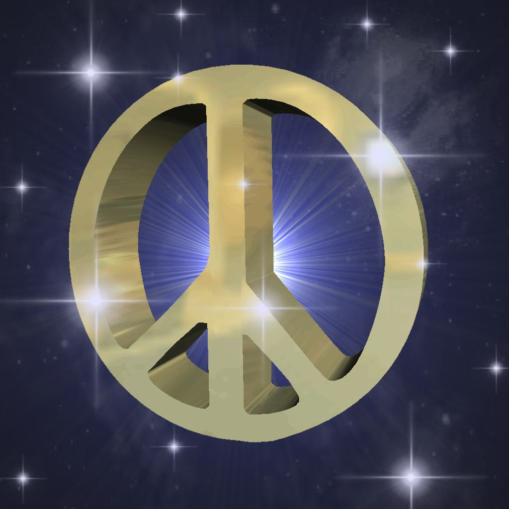 Gold Peace Sign In Starry Sky Background Image, Wallpaper