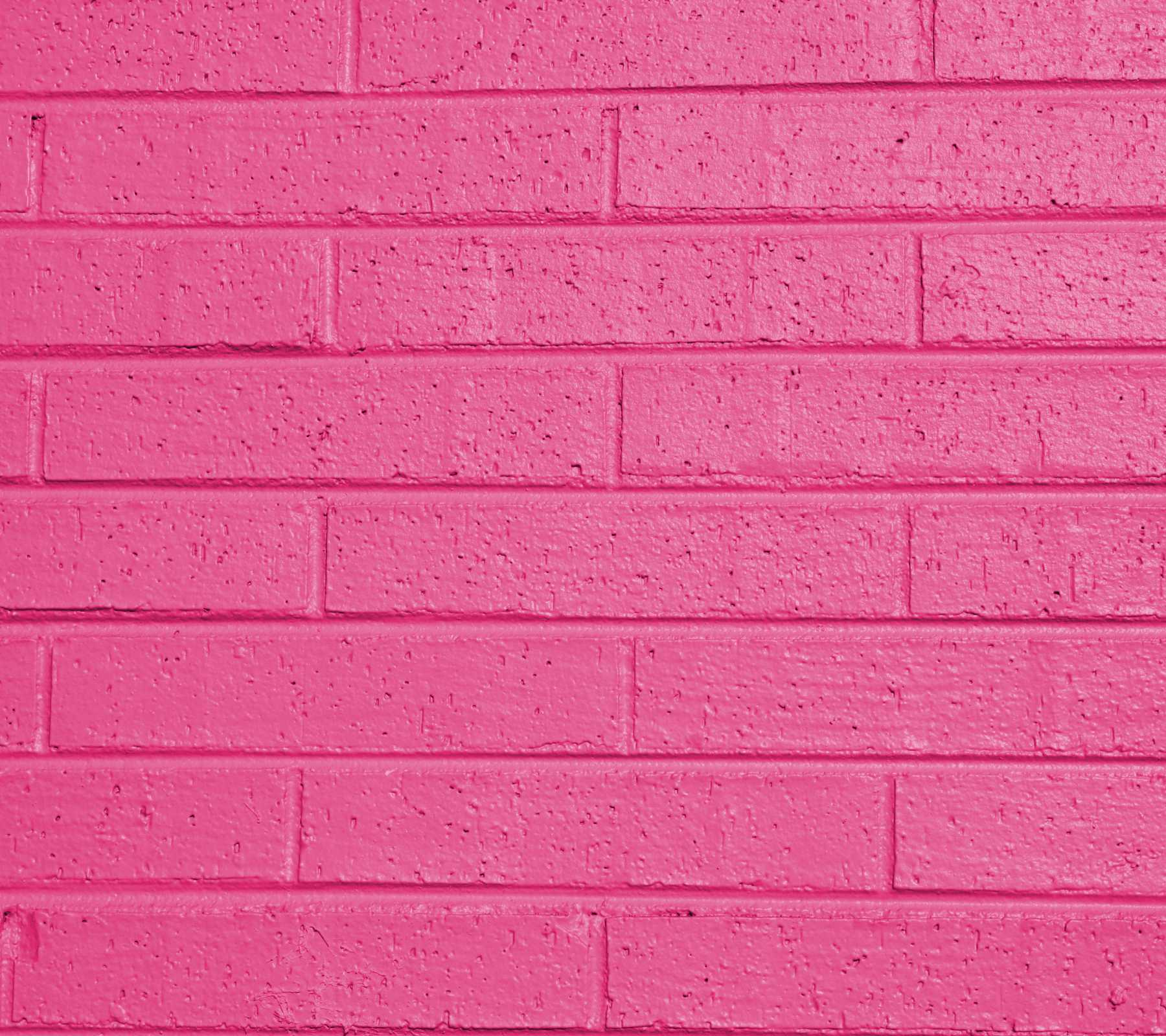 Hot Pink Painted Brick Wall Background Image Wallpaper Or