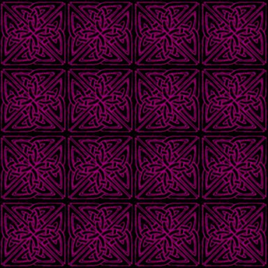 Magenta On Black Celtic Squares Seamless Background