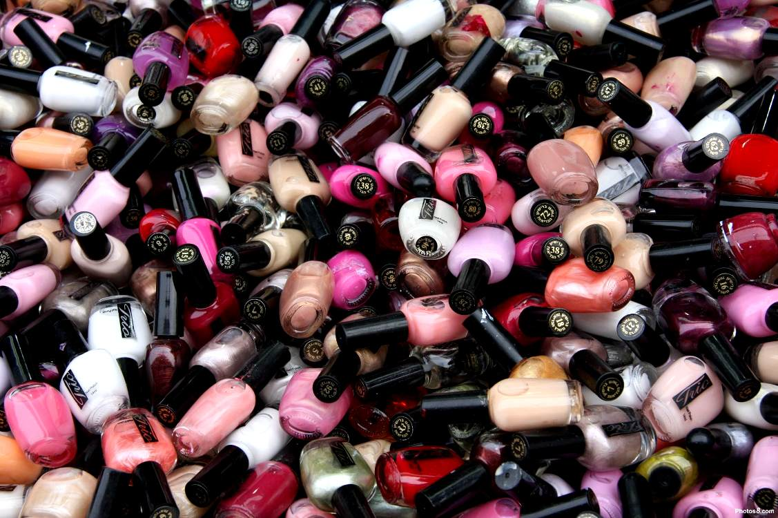 Nail polish bottles background image wallpaper or texture - Nails wallpaper download ...