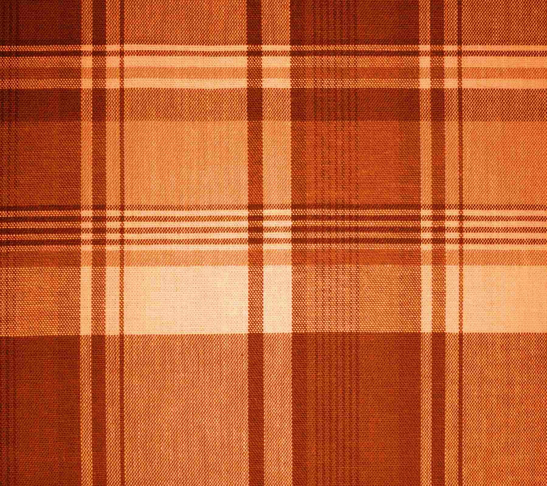 Orange Plaid Fabric Background 1800x1600 Background Image