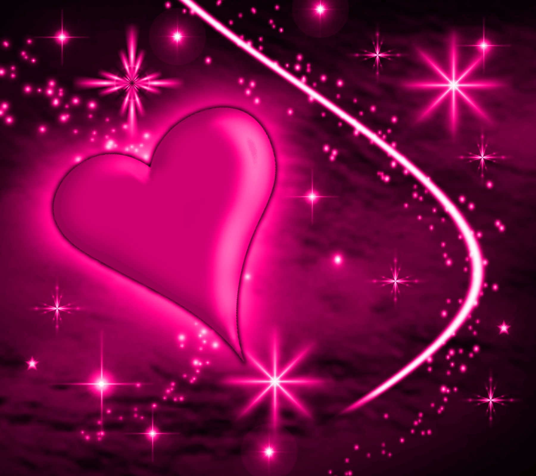 Pink heart with plasma stars background 1800x1600 background preview download thecheapjerseys Gallery