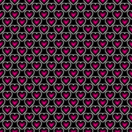 Pink Satin Hearts On Black And Wallpaper