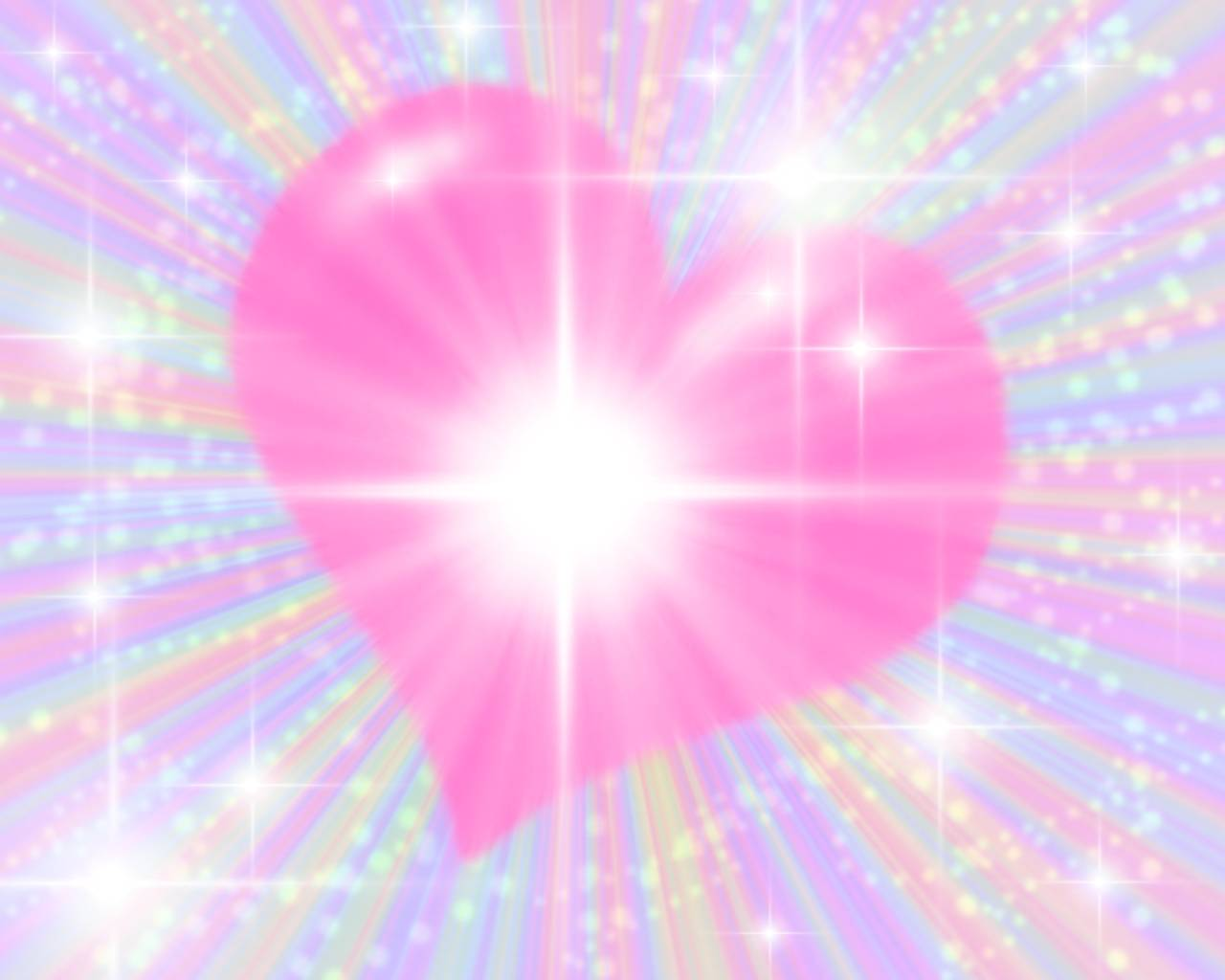 Background Wallpaper Image: Pink Starburst Heart