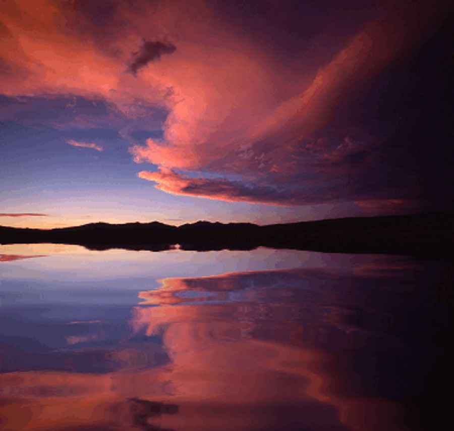 Pink Sunset Reflection Background Image Wallpaper Or