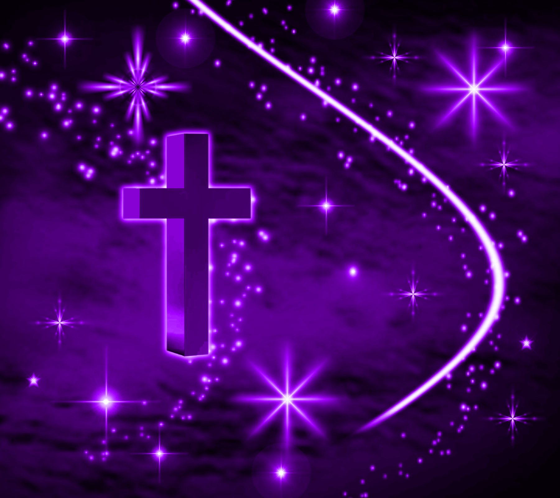 Background Wallpaper Image  Purple Cross With Stars Background    Purple Hearts And Stars Background