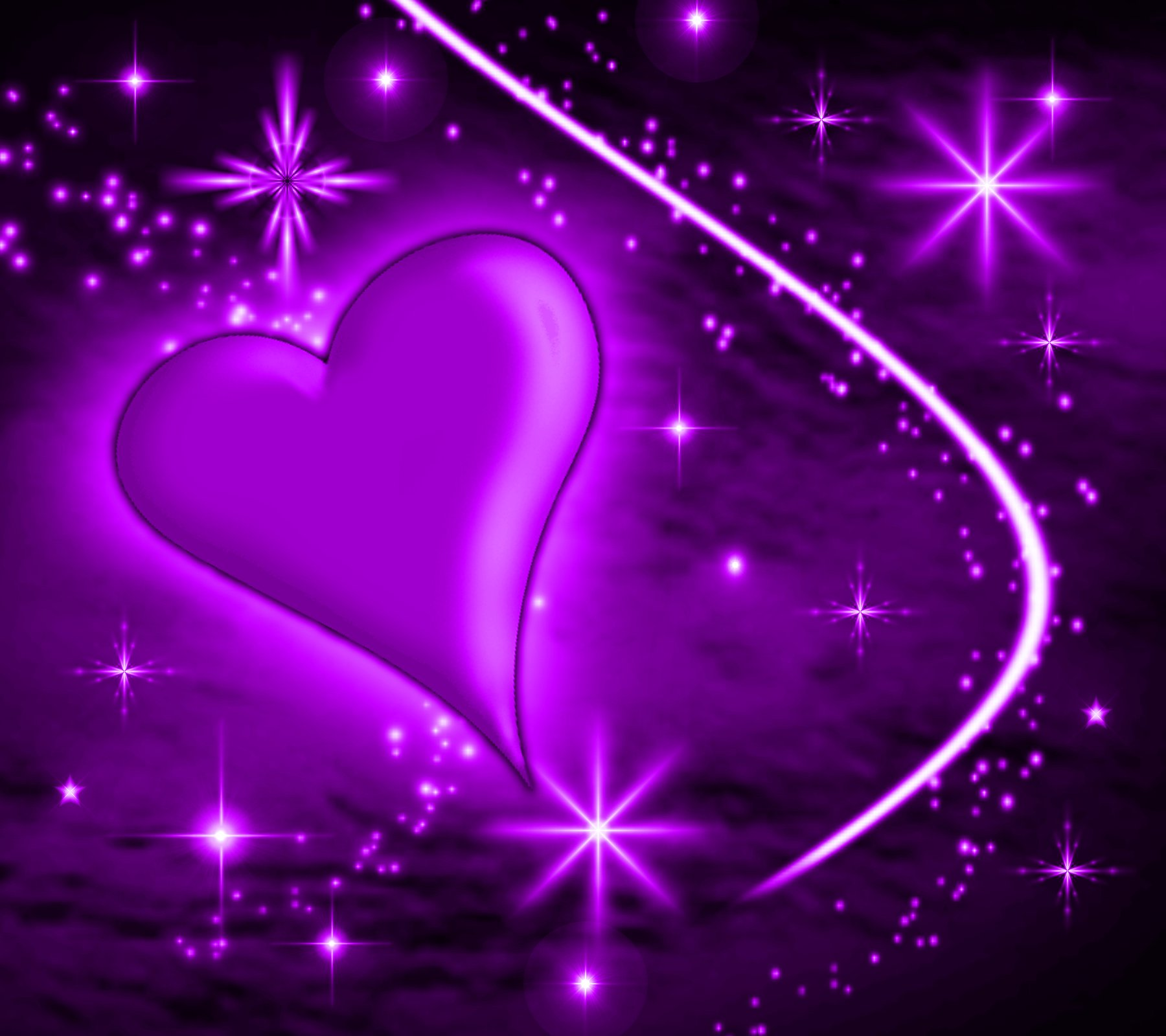 Background Wallpaper Image  Purple Heart With Plasma Stars Background    Purple Hearts And Stars Background