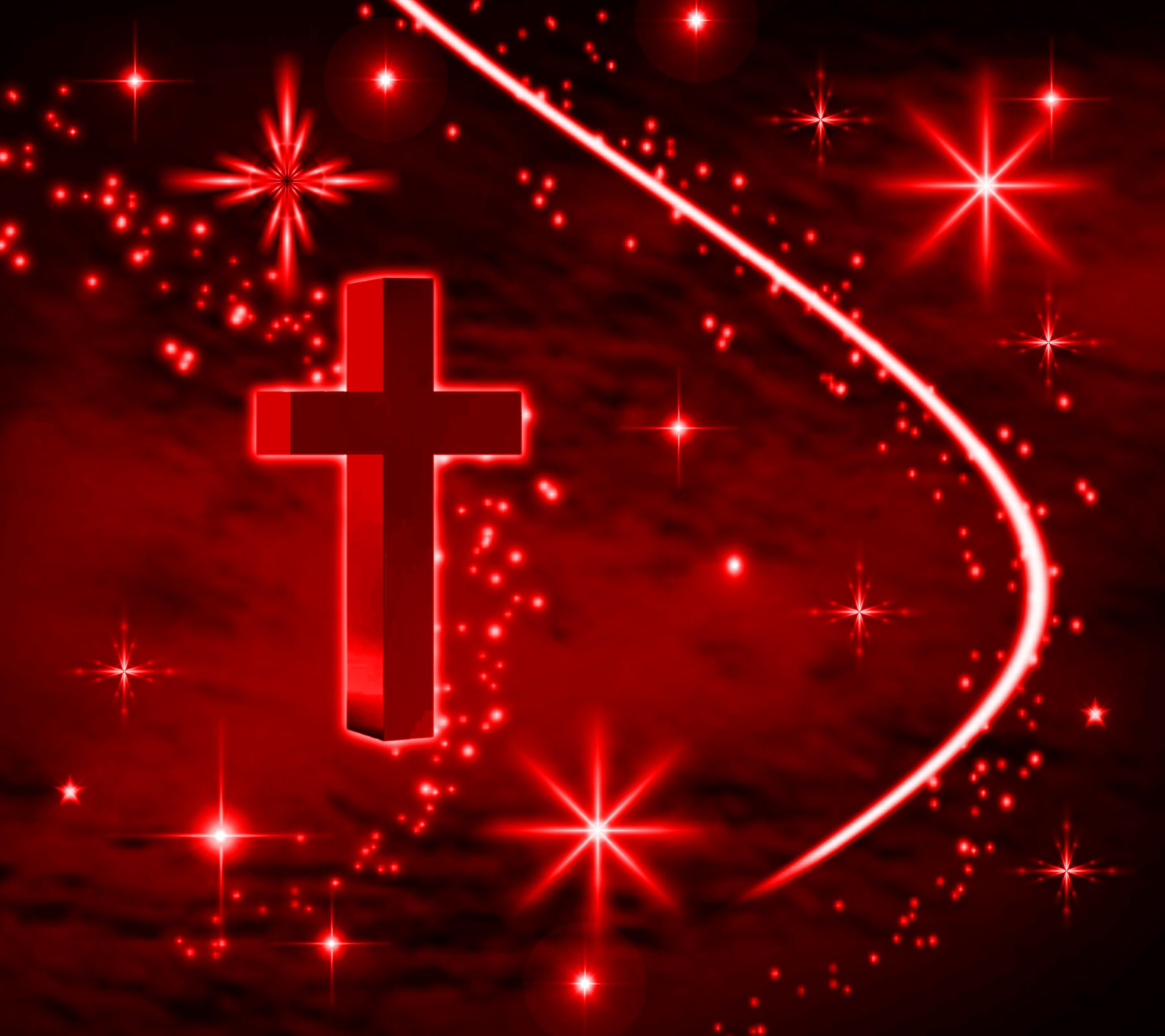 Cross Wallpapers Free: Red Cross With Stars Background 1800x1600 Background Image