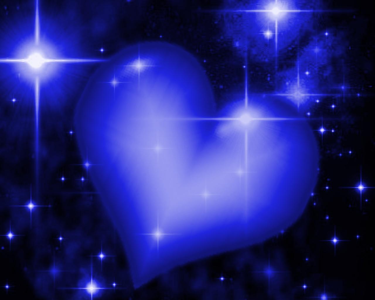 Royal Blue Hear... Blue Heart Background Wallpaper