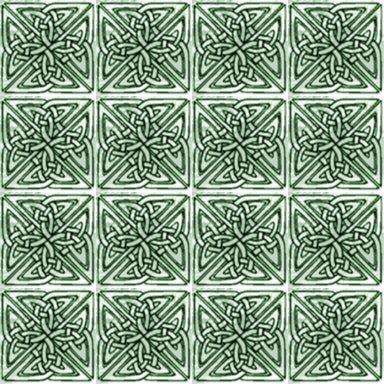 Sage Green Celtic Squares Seamless Background Pattern
