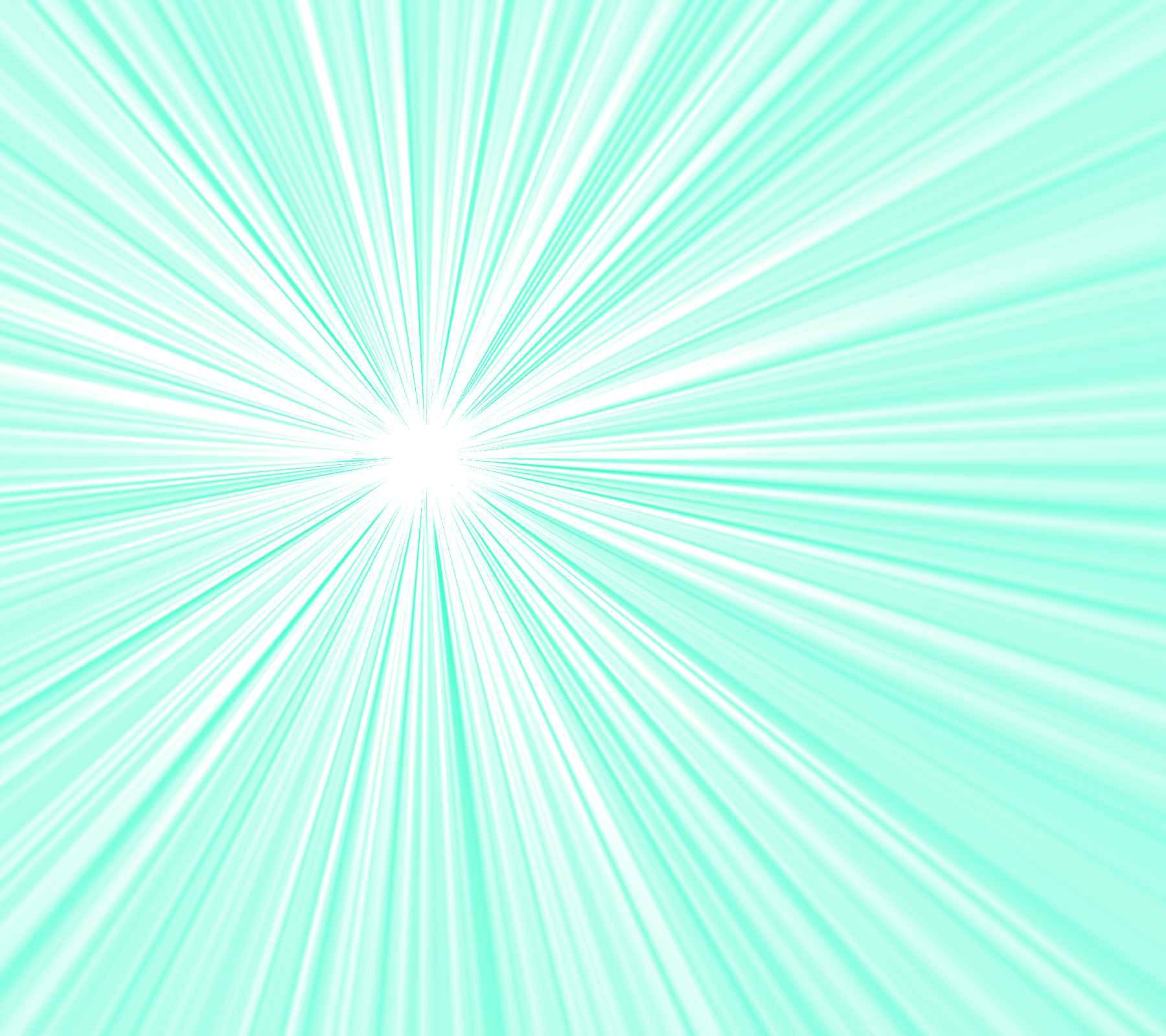 Sea Foam Green Starburst Radiating Lines Background