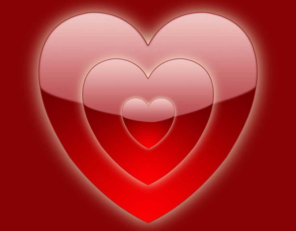 Shiney Red Heart Background Image, Wallpaper or Texture ...