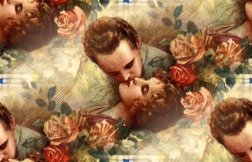 Vintage Lovers Seamless Background Image Wallpaper Or