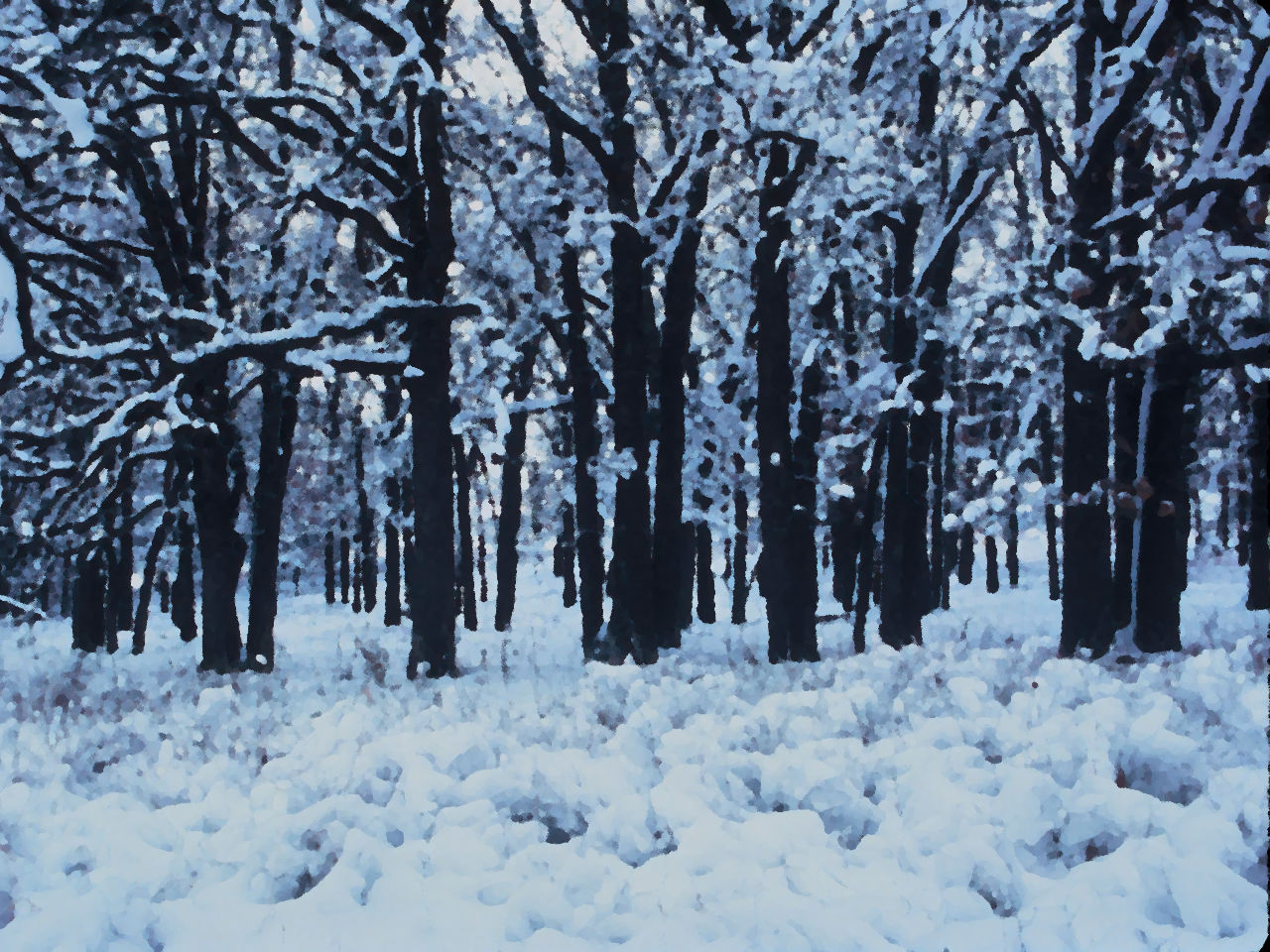 winter trees painting background image wallpaper or
