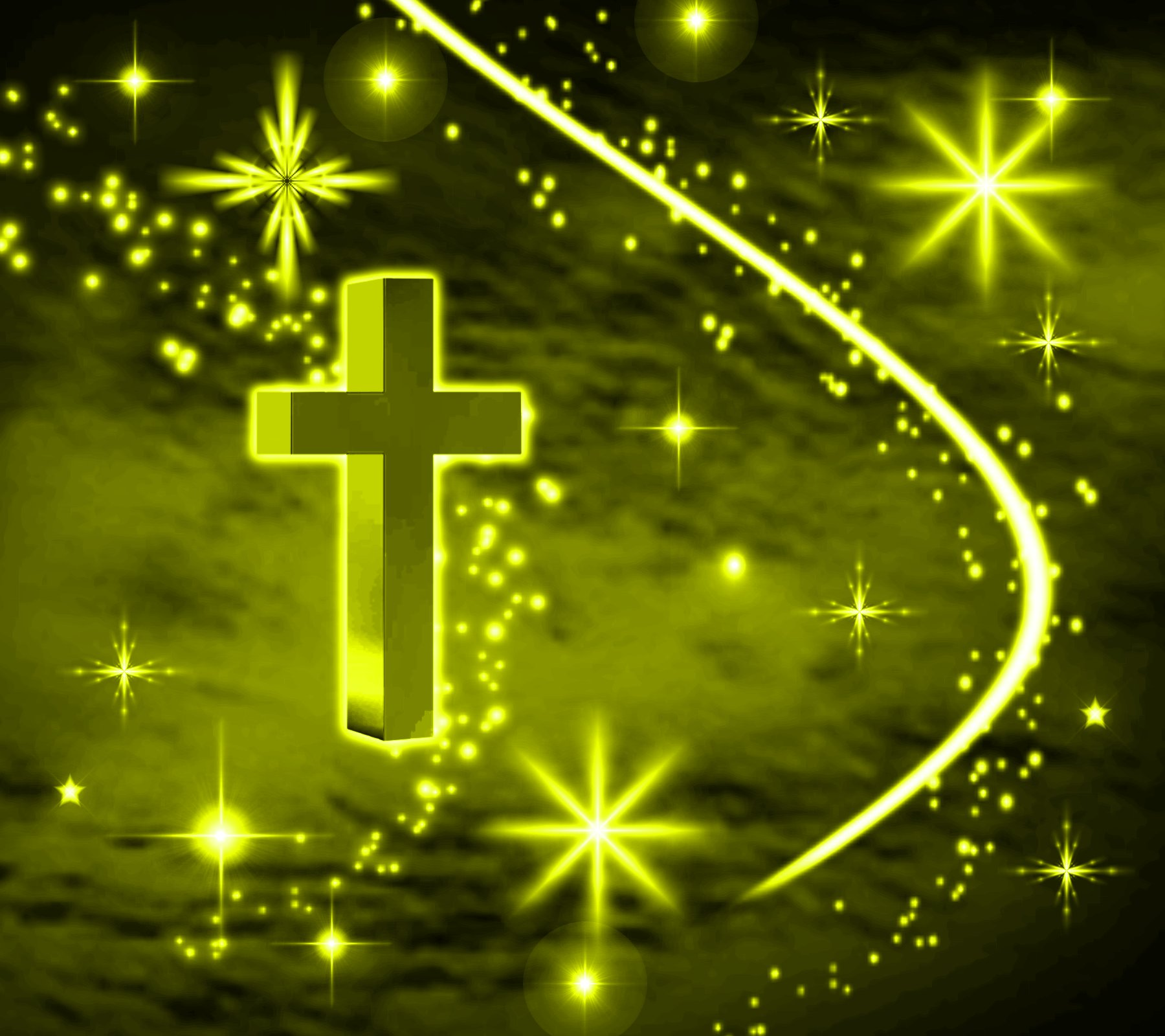 Yellow Cross With Stars Background 1800x1600 Background