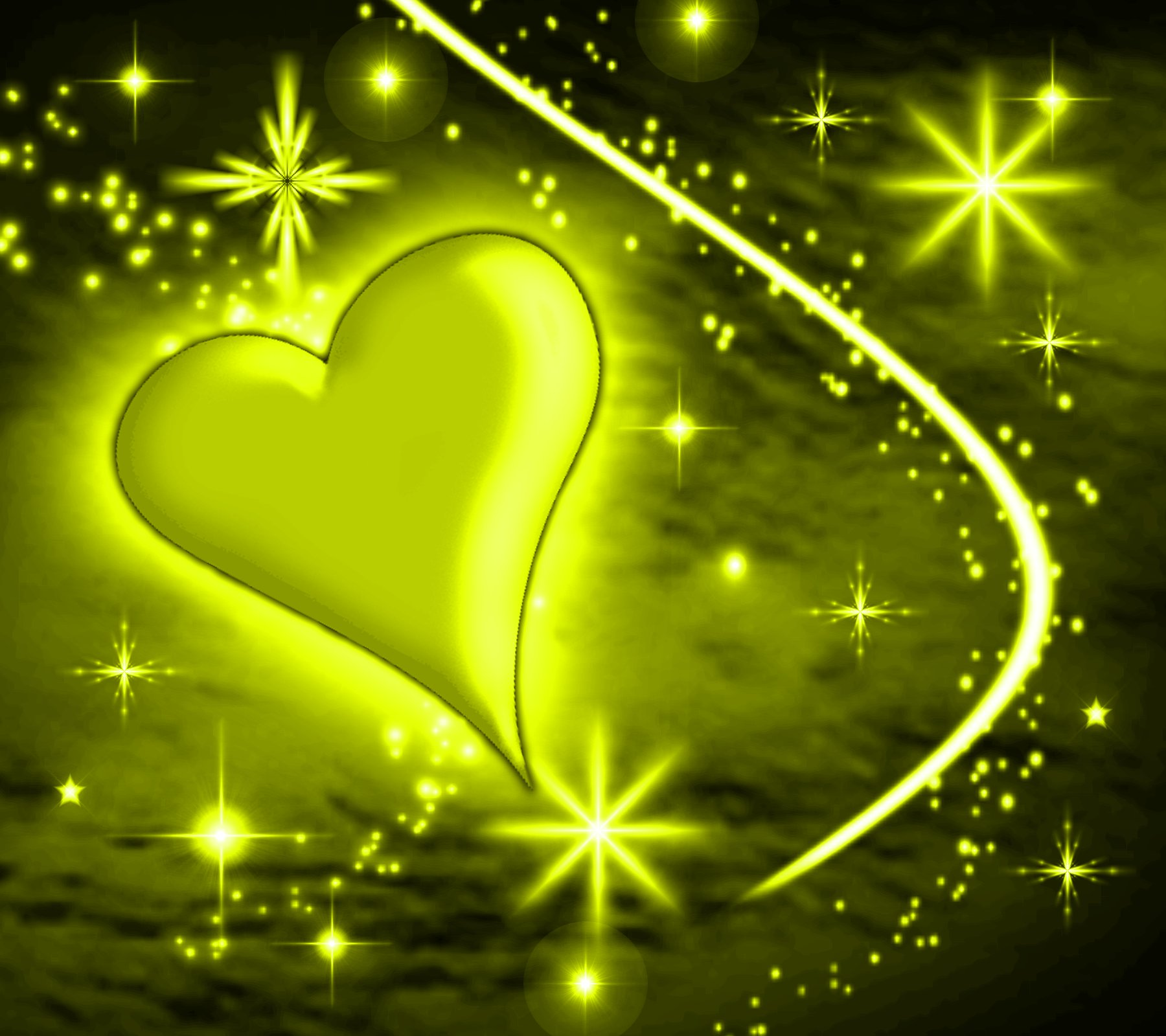 Yellow Heart With Plas...